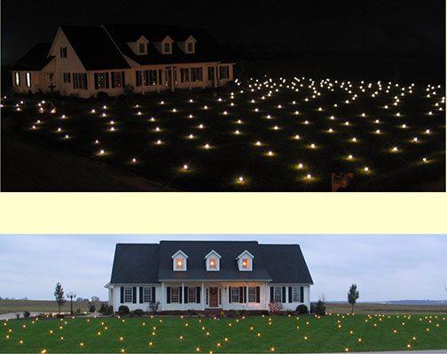 Lawn Lights Illuminated Outdoor Decoration, LED, Christmas, 36-08, Warm White