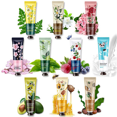 10 Pack Natural Plant Fragrance Hand Cream for Dry Working Hands