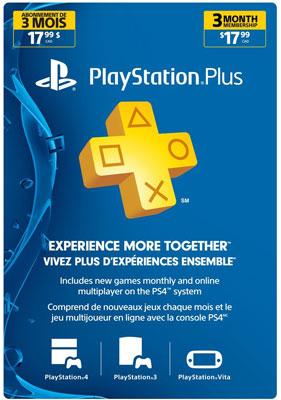 3 Month Membership PSN Live Subscription Card