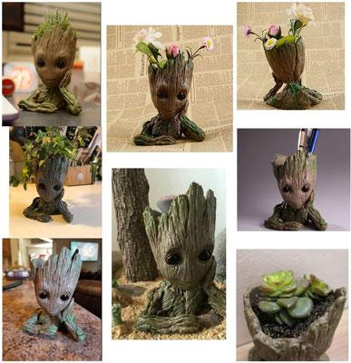 Groot Action Figures Flower pot