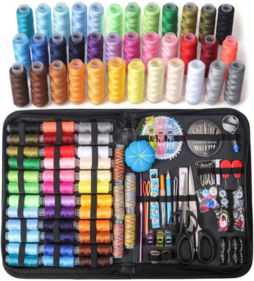 Large Sewing Kit, 206 Pcs Premium Sewing Supplies