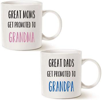 MAUAG Funny Grandparent Coffee Mug Christmas Gifts