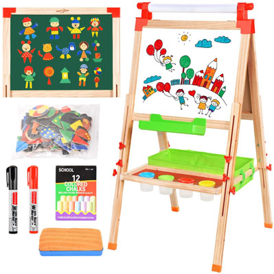 BATTOP Easel for Kids with Paper Roll,