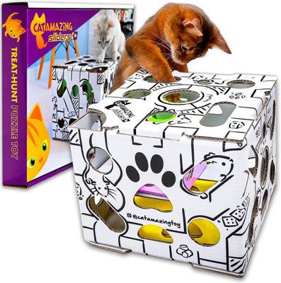 Cat Amazing Sliders – Interactive Treat Puzzle Cat Toy