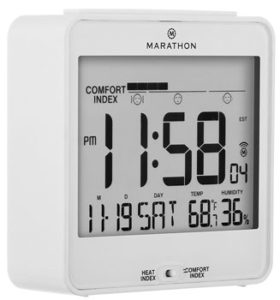 MARATHON CL030054WH Atomic Desk Clock