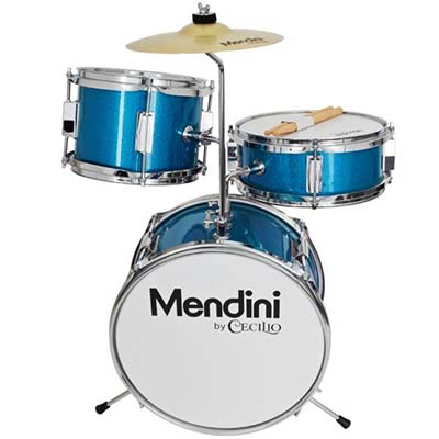 Mendini by Cecilio 13 Inch 3-Piece Drum Set for Kids