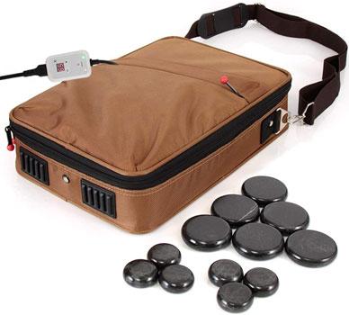 SereneLife Portable Hot Stone Massage Warmer Set