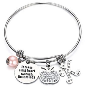 Teacher Bangle Bracelet-Teacher Gift