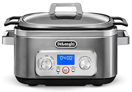 De'Longhi Livenza Programmable Slow Cooker with Stovetop-Safe Pot