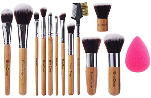 EmaxDesign 12+1 Pieces Makeup Brush Set