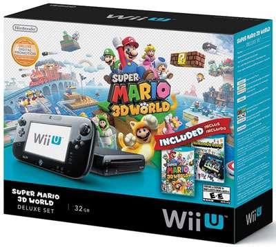 Nintendo Wii U Deluxe Set: Super Mario 3D World and Nintendo Land Bundle