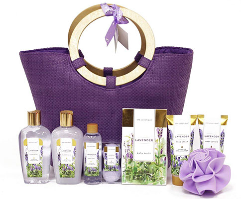 Spa Luxetique Lavender Spa Gift Baskets for Women