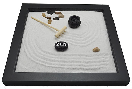 Table Top Rock Sand Rake Zen Garden