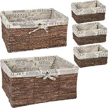 Wicker Home Decorative Storage Organizer Baskets