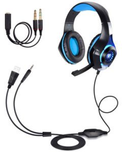 BlueFire Professional 3.5mm PS4 Gaming Headset Headphone with Mic and LED Lights