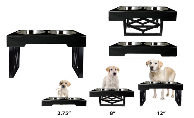 Pet Zone Designer Diner Adjustable Raised Dog Feeder