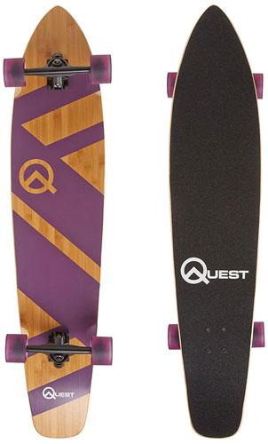 "Quest Skateboards Best 44"" Bamboo Super Cruiser Longboard Skateboard"