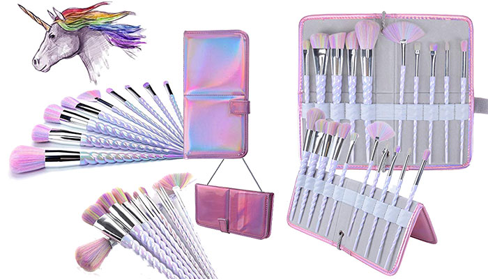 Ammiy Unicorn Makeup Brushes