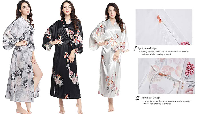 BABEYOND Floral Kimono Robe