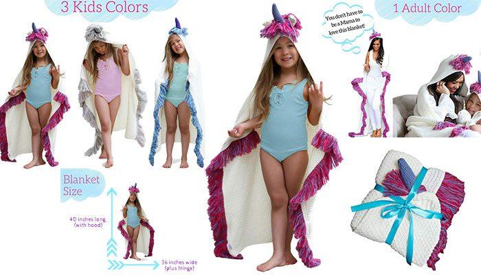 Born To Unicorn Blanket