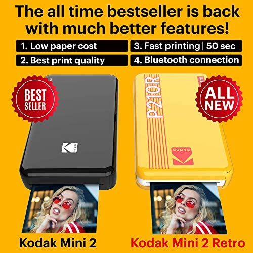 Kodak Mini 2 Retro Portable Instant Photo Printer