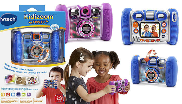VTech Kidizoom Twist Connect Camera - Purple & Blue