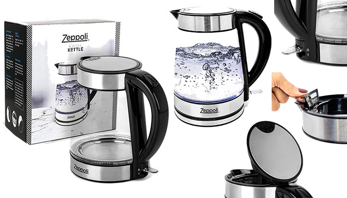Zeppoli Electric Kettle - Glass Tea Kettle